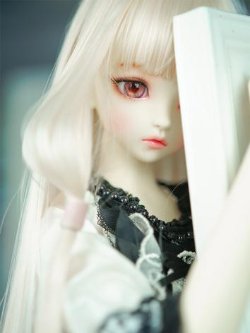 BJD Wig Girl Gold Straight Long Hair for 1/2/SD/MSD Size Ball-jointed Doll