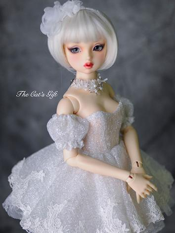 BJD Clothes Girl White Shor...