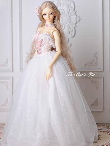BJD Clothes Girl White Wedd...