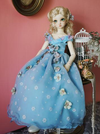 BJD Clothes Girl Blule Dres...