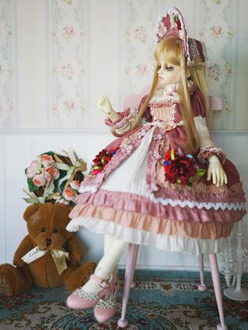 BJD Clothes Girl Pink Dress for SD/MSD/DSD/YOSD Ball-jointed Doll