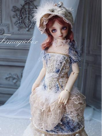 BJD Clothes Blue Dress Set for SD/MSD Ball-jointed Doll