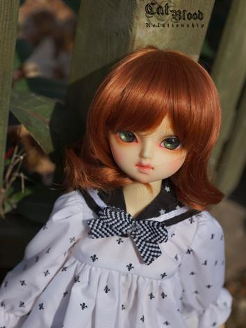 BJD Girl/Boy Carrot Curly Hair wig for MSD Size Ball-jointed Doll