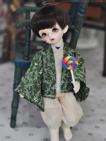 BJD Clothes Boy Green Kimon...