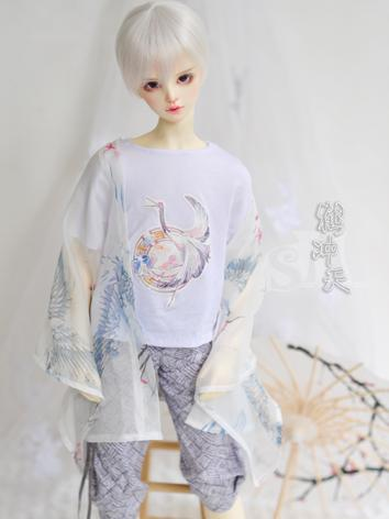 BJD Clothes Boy White Cloth...