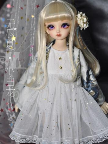 BJD Clothes Girl White Skirt for MSD size Ball-jointed Doll