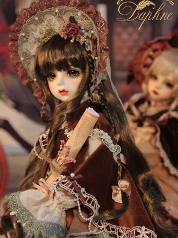 BJD Wig Girl Chocolate Long Hair Wig for MSD Size Ball-jointed Doll