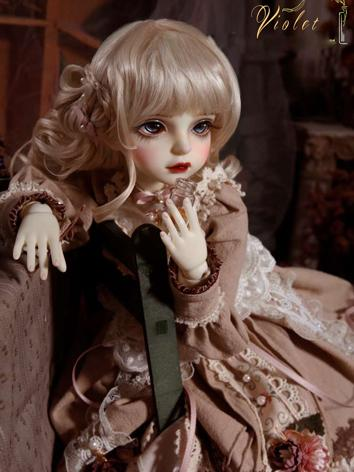 BJD Wig Girl Light Gold Long Hair Wig for MSD Size Ball-jointed Doll