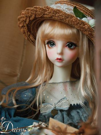 BJD Wig Girl Light Gold Long Hair Wig for SD Size Ball-jointed Doll