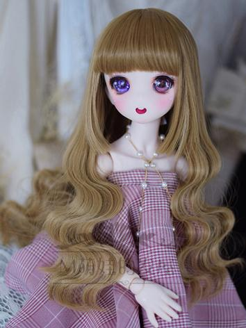 BJD Wig Girl Brown Curly Hair for SD/MSD/YOSD Size Ball-jointed Doll