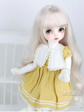 BJD Wig Girl Silver/Black Long Hair for SD/MSD/YOSD Size Ball-jointed Doll