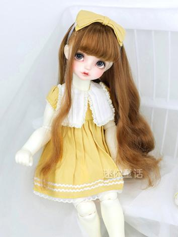 BJD Wig Girl Gold/Brown Lon...