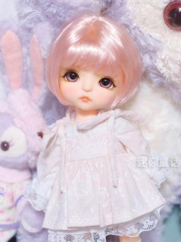 BJD Wig Girl Short Straight...