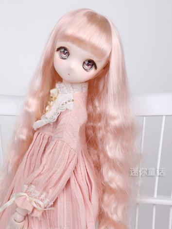 BJD Wig Girl Long Curly Hai...