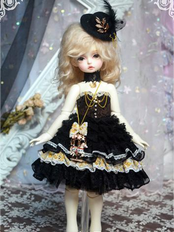 BJD Clothes Girl Black Skir...