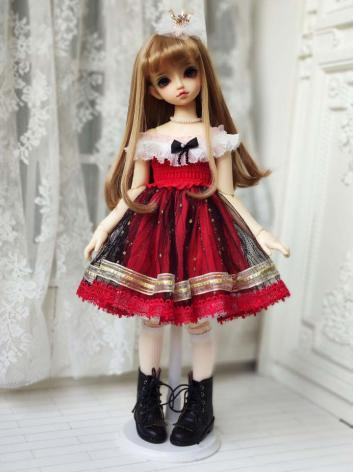 BJD Clothes Girl Black/Whit...