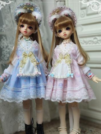 BJD Clothes Girl Blue/Pink Dress Suit for MSD/SD Ball-jointed Doll