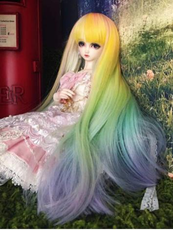 BJD Wig Girl Color Long Hai...
