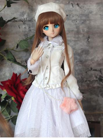 BJD Clothes Girl White Coat...