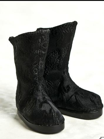 Bjd Shoes 1/6 Baby Black bo...