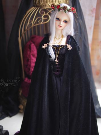 1/3 Clothes BJD Girl Black Dress for SD13/SDGR/SD16 Ball-jointed Doll