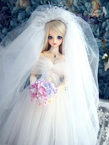 1/3 Clothes BJD Girl White Dress for SD13/SDGR/SD16 Ball-jointed Doll