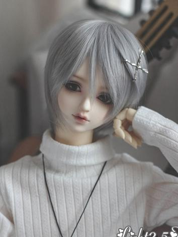 1/3 1/4 Wig Girl Gray Short...