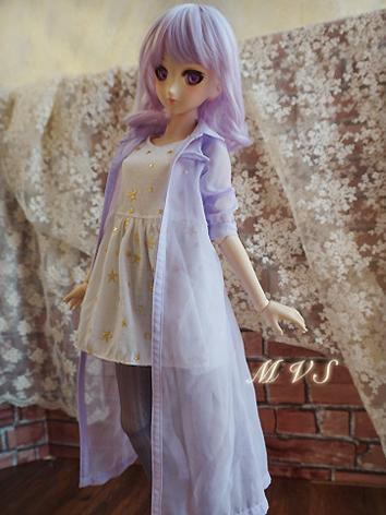 BJD Clothes Girl Pink Long ...