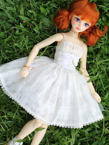 BJD Clothes Girl White Tee ...