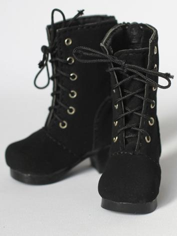 BJD Shoes Girl Black High H...