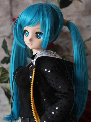 BJD Wig Girl Blue Long Hair for SD Size Ball-jointed Doll