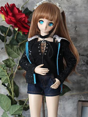 BJD Clothes Girl Coat and Shorts Suit for SD/DD Ball-jointed Doll