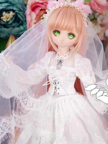 BJD Clothes Girl Snow Wedding Dress for SD/DD Ball-jointed Doll