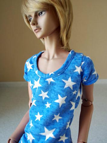 BJD Clothes Girl/Boy Blue T-shirt for MSD Ball-jointed Doll