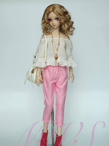 BJD Clothes Girl Pink/Blue Pants Trousers for SD Ball-jointed Doll