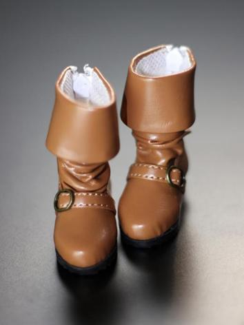 Bjd Shoes Girl/Boy Brown Bo...