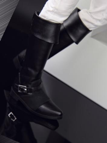 Bjd Shoes Male Black Boots for SD Size Ball-jointed Doll
