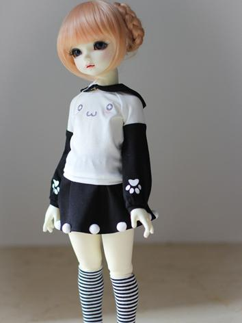 BJD Clothes Girl Pink/Black...