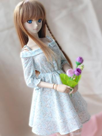 BJD Clothes Girl Flower Pri...