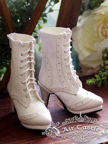 Bjd 1/3 Girl Shoes White Re...