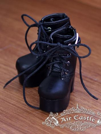 Bjd 1/4 Girl Shoes Black Hi...