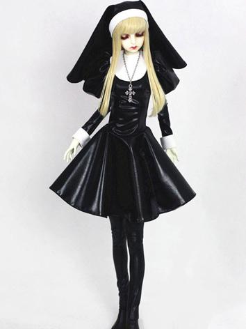 Bjd Clothes Girl Black Long...