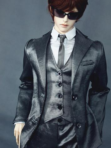 Bjd Clothes Silver Suit for...