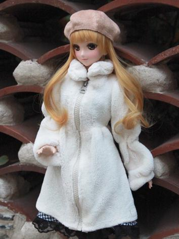1/3 Girl Clothes White Coat for SD/DD Size Ball-jointed Doll