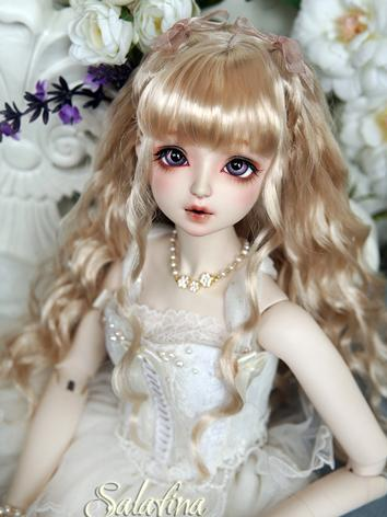 BJD Wig Girl Gold/Dark Brow...