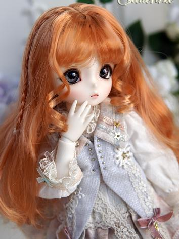 BJD Wig Girl Orange Curly H...