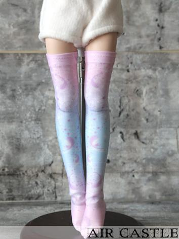 Bjd Socks Girl Lady Printed High Stockings for MSD/MDD Ball-jointed Doll