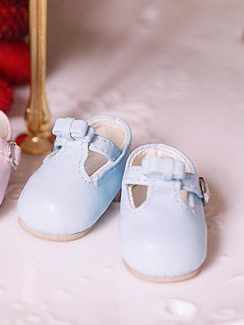 BJD Shoes Blue Flat Shoes f...