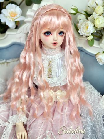 BJD Wig Girl Pink Long Curl...