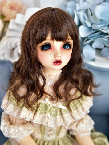 BJD Wig Girl Light Dark Bro...